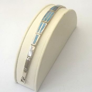 Indian Bracelet with Turquoise Inlay